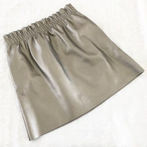 Zara metallic mini skirt M